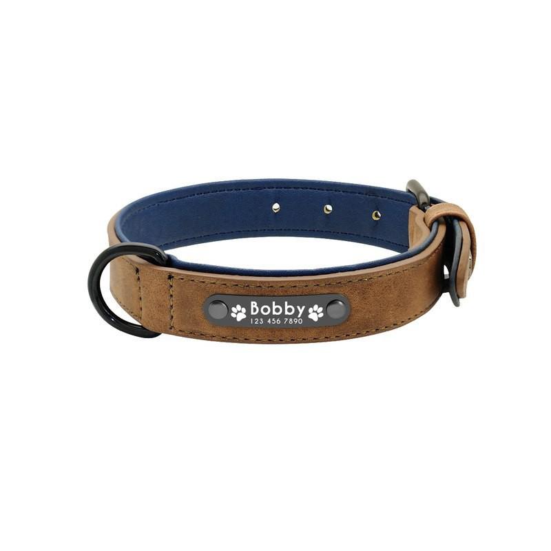 remise spéciale réel classé collection entière Collier pour chien en cuir personnalisé