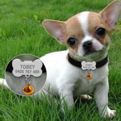 collier petit chien clochette