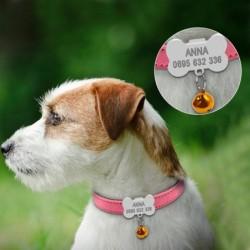 collier pour petit chien personnalise avec clochette