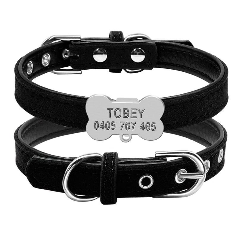 Collier noir pour petit chien avec clochette