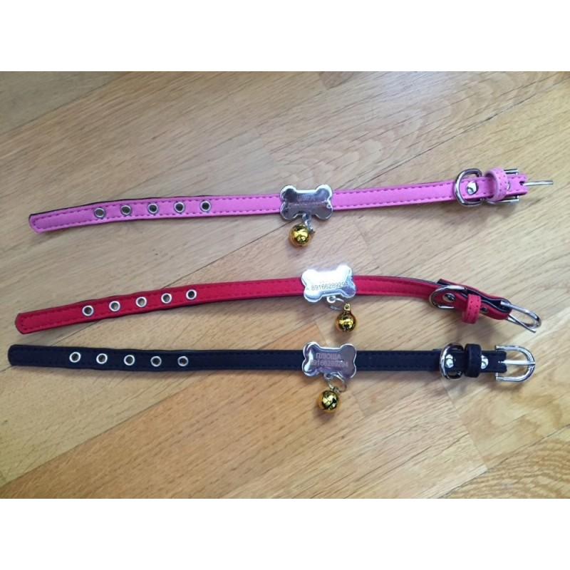 collier personnalise avec clochette pour petit chien