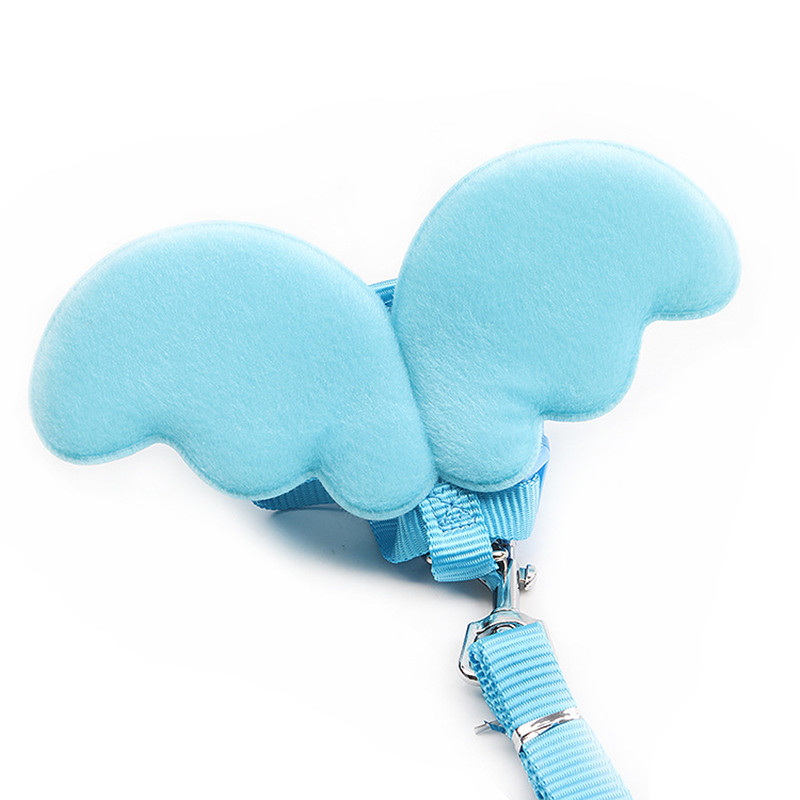 harnais fantaisie pour petit chien bleu