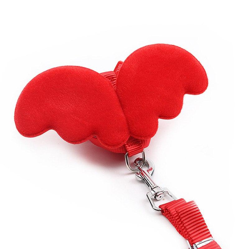 harnais fantaisie pour petit chien rouge
